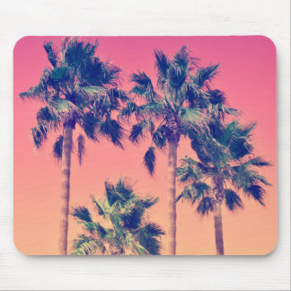 Tropical Vintage Palm Trees Mousepad
