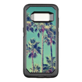 Tropical Vintage Palm Trees on Teal OtterBox Commuter Samsung Galaxy S8 Case