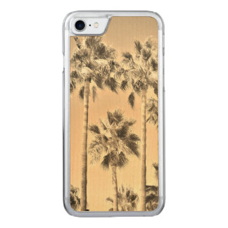 Tropical Vintage Palm Trees Sepia Carved iPhone 8/7 Case