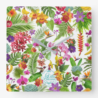 Tropical Wall Clock