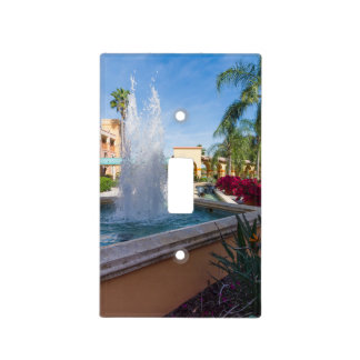 Tropical Water Fountain Light Switch Cover