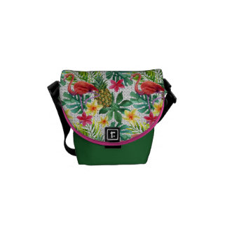 Tropical Watercolor Courier Bags