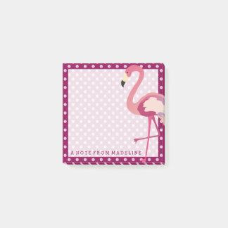 Tropical | Watercolor Flamingo Polka Dots Post-it Notes