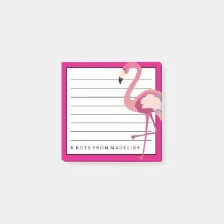 Tropical | Watercolor Flamingo Post-it Notes