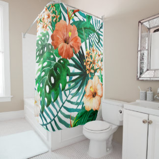 Tropical Watercolor Floral Pattern