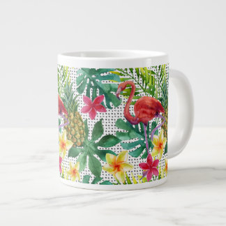 Tropical Watercolor Giant Coffee Mug
