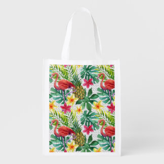 Tropical Watercolor Grocery Bags