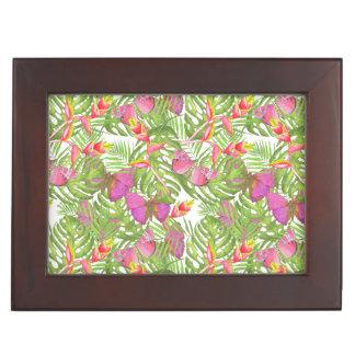 Tropical Watercolor Keepsake Boxes