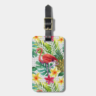 Tropical Watercolor Luggage Tag