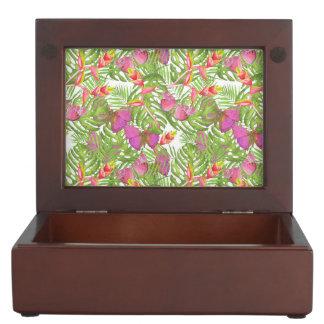 Tropical Watercolor Memory Boxes