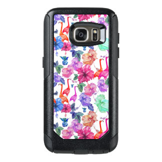 Tropical Watercolor Pattern OtterBox Samsung Galaxy S7 Case