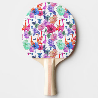 Tropical Watercolor Pattern Ping Pong Paddle