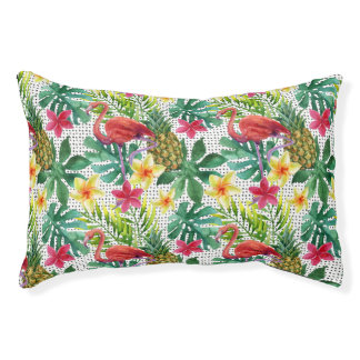 Tropical Watercolor Small Dog Bed