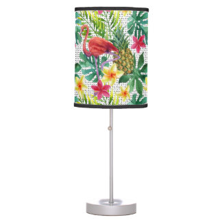 Tropical Watercolor Table Lamp