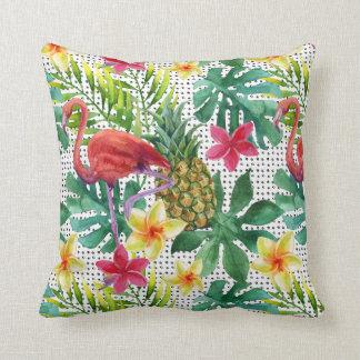 Tropical Watercolor Throw Pillow