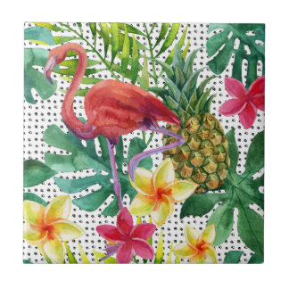 Tropical Watercolor Tile