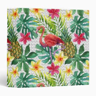 Tropical Watercolor Vinyl Binder