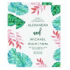 Tropical Watercolor Wedding Invitation