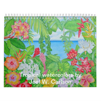 Tropical Watercolors Calendar