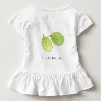TROPICAL WATERCOLOUR FOLIAGE MONOGRAM TEAM BRIDE TODDLER T-SHIRT