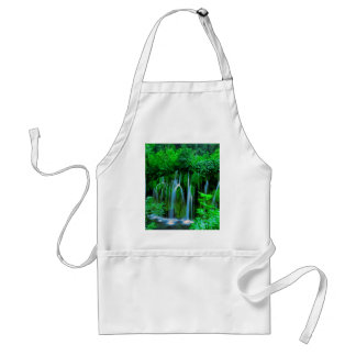 Tropical Waterfall In The Rainforest Standard Apron