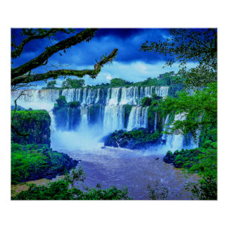 Tropical Waterfalls of The Rainforest Poster