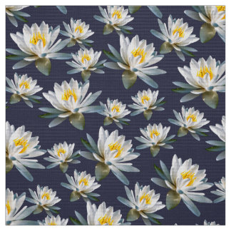 Tropical Waterlily Flower Pattern Fabric