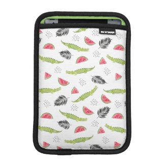 Tropical Watermelon & Crocodile Pattern iPad Mini Sleeve