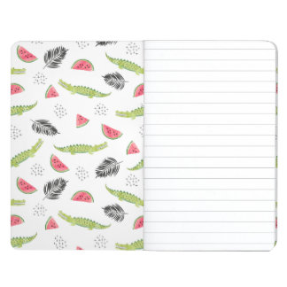 Tropical Watermelon & Crocodile Pattern Journal