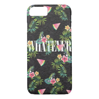 Tropical watermelon palms flowers iPhone 7 Case