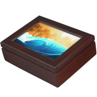Tropical wave at sunrise keepsake box