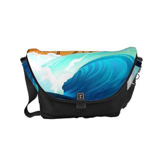 Tropical wave at sunrise messenger bag