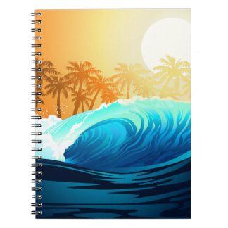 Tropical wave at sunrise notebook