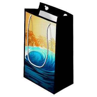 Tropical wave at sunrise small gift bag
