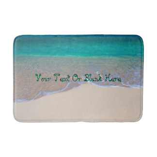 Tropical Wave On The Beach Bath Mat