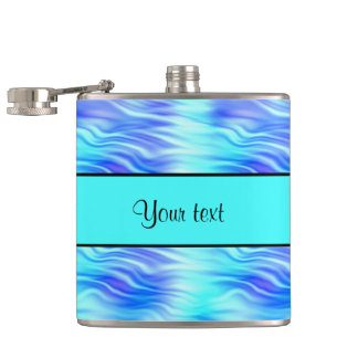 Tropical Waves Hip Flask