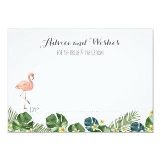 Tropical Wedding Advice Cards. Card