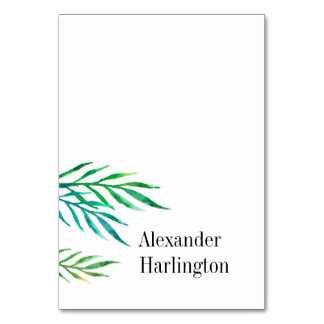 Tropical wedding place card. Destination seating Card