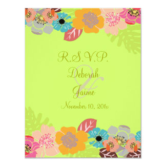Tropical wedding RSVP/Add your background Card