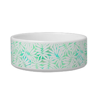 Tropical white and green leaves bowl