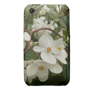 Tropical White Begonia Flowers iPhone 3 Case