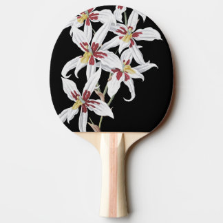 Tropical White Orchid Flowers Floral Paddle Ping Pong Paddle