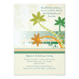 Tropical Winds Post Wedding Brunch Invitation