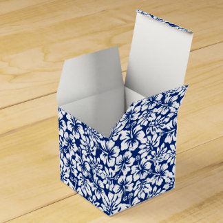 Tropical worn white hibiscus favor box