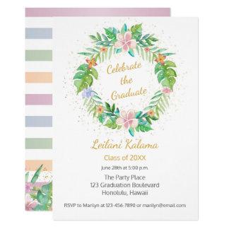 Tropical Wreath Card