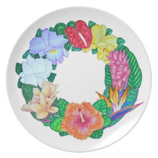 Tropical Wreath Dinner Plates