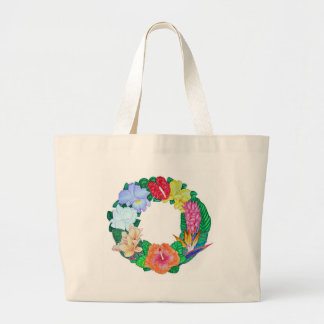 Tropical Wreath Large Tote Bag