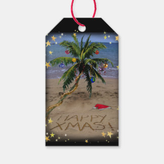 Tropical X-mas Pack Of Gift Tags