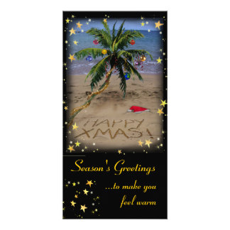 Tropical X-mas Photo Cards