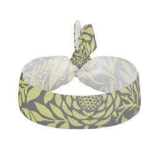 Tropical Yellow Fern hair tie